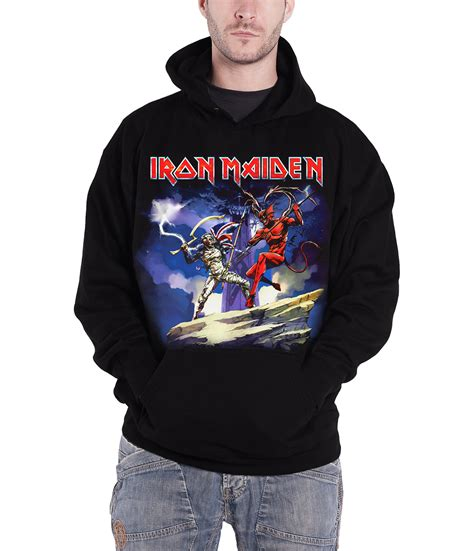 Hoodie Iron 2 Cloth iron maiden hoodie book of souls the trooper eddie band