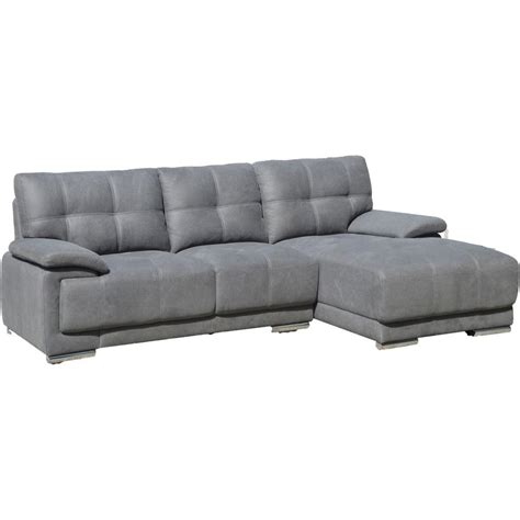 grey chaise sectional jacob contemporary tufted stitch sectional sofa with right