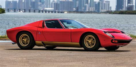 1972 Lamborghini Miura P400 Sv Lamborghinis For Auction In Monterey