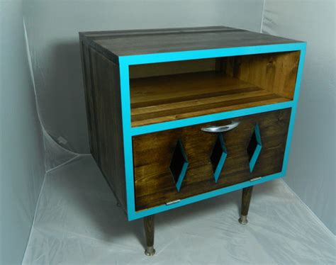mid century inspired nightstand modern furniture