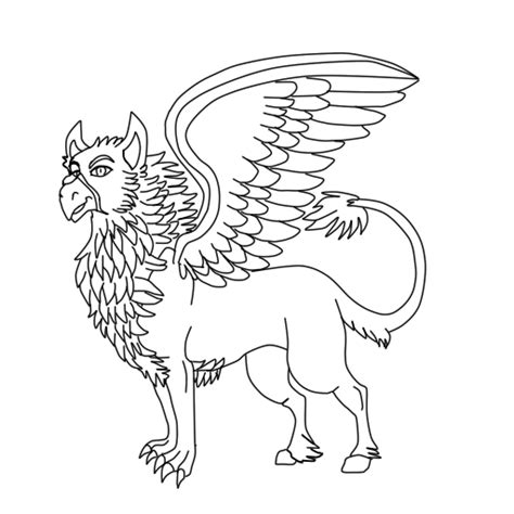 hippogriff coloring page hippogriff lineart by dragonrace