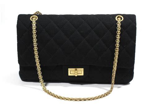 Other Designers Designer Julie K Handbags by Chanel Jersey 2 55 Bag Handbags Other Black Ref 21080