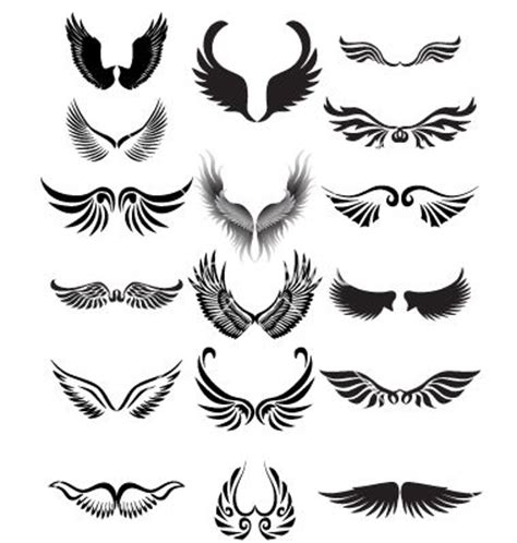 tattoo angel vector wings silhouette vector 549051 by dagadu on vectorstock