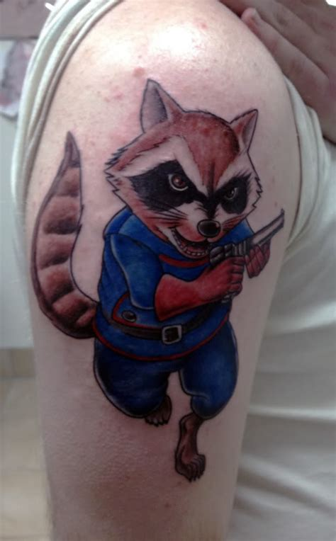 Cartoon Raccoon Tattoo   raccoon tattoos inspiring tattoos