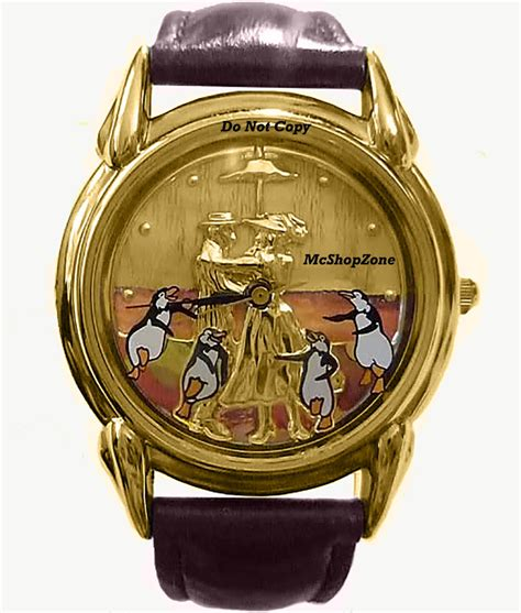 S Watches Disney by New Disney Fossil Poppins Gold Embossed Limited