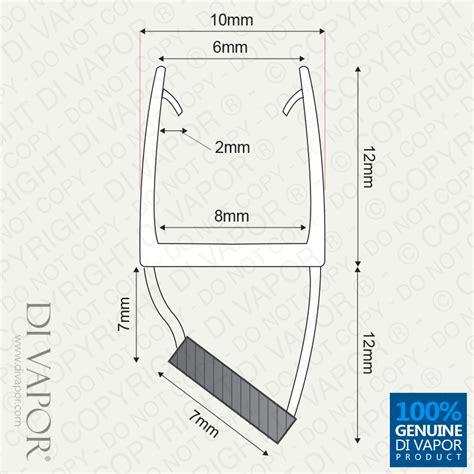 Magnetic Shower Screen Door Seal Vertical 6mm 8mm Glass Vertical Shower Door Seal