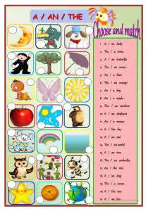 38 free esl a an worksheets