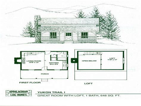 Small Cabins Floor Plans by Small Cabin Floor Plans With Loft Small Cottage Floor