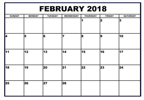 printable year planner 2018 a4 february 2018 calendar a4 printable