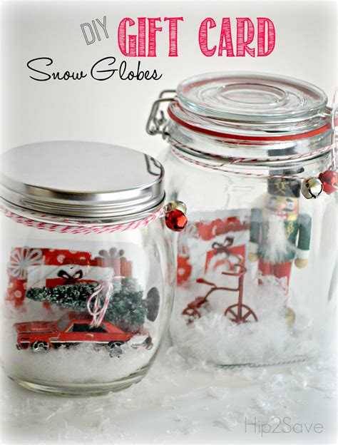How To Give Gift Cards - diy gift card snow globes hip2save