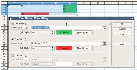 format excel open office ubuntu libreoffice conditional formatting based on
