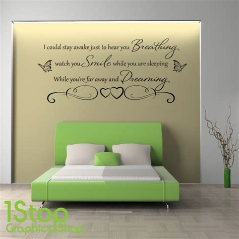 wall sticker quotes for bedrooms 1 stop graphics shop 1stopgraphicsshop wall decals wall