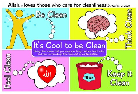 Cleanliness Poster Education Class Decoration Hand