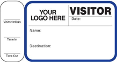 visitor pass template free school visitor management passes badges stickers software
