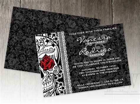 Wedding Invitation Templates Skulls And Roses And Invitation Templates On Pinterest Skull Invitation Templates