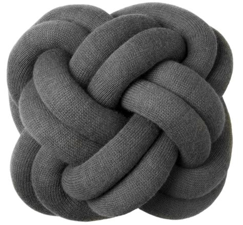 design house stockholm knot cushion knot cushion dark grey by design house stockholm