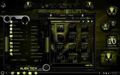 tech themes for windows 10 windows 7 themes alien tech yellow by newthemes on deviantart