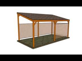 Patio Lean To Shelter Wooden Carport Youtube