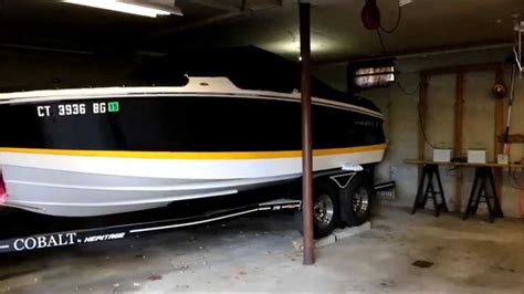 boat garage fit the boat in the garage hack youtube