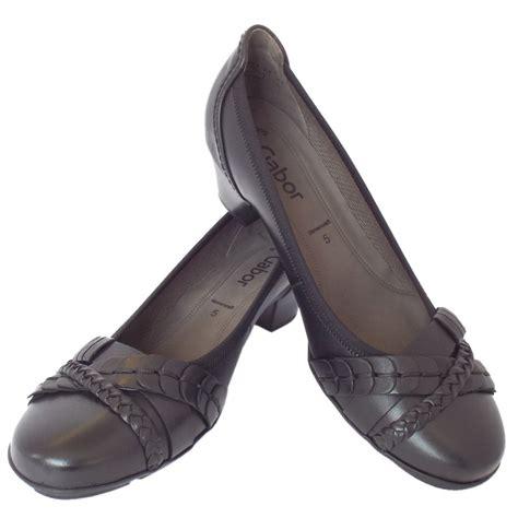 gabor tyne s smart casual low heel shoes in black