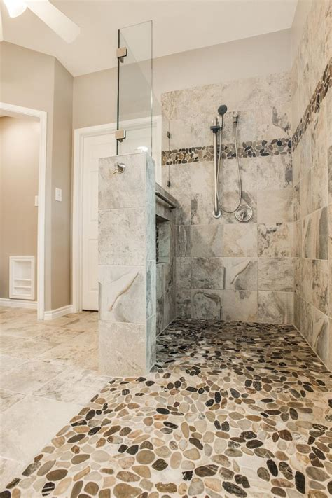 Gorgeous, Walk in Shower Bathroom Remodel   DFW Improved