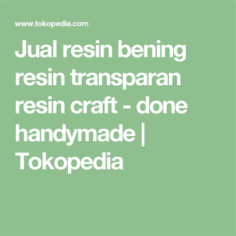 Jual Acrylic Resin jual resin bening resin transparan resin craft done