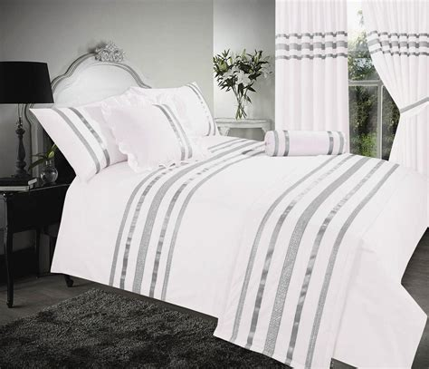 white and silver bedding white silver colour stylish sequin duvet cover luxury beautiful glamour sparkle