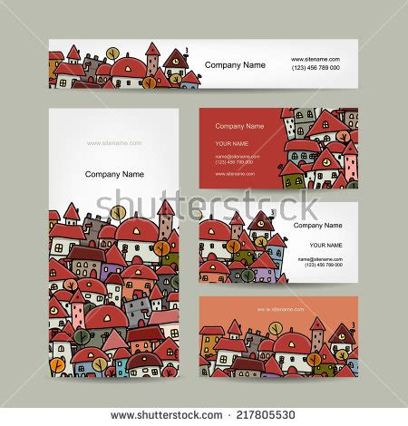 Cityscape Business Card Template by American June Brazil Stock Vector