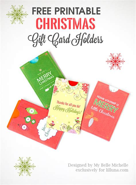holiday gift card holder printables