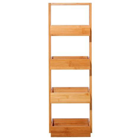 etagere 4 niveaux 201 tag 232 re salle de bain 4 niveaux quot bambou quot marron