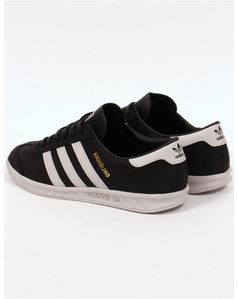 adidas hamburg black adidas hamburg trainers black white originals mens shoes