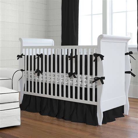 Black Baby Crib Bedding by Solid Black Baby Crib Bedding Collection Carousel Designs