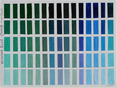 shades of blue green marie s art techniques winsor blue and violet color charts