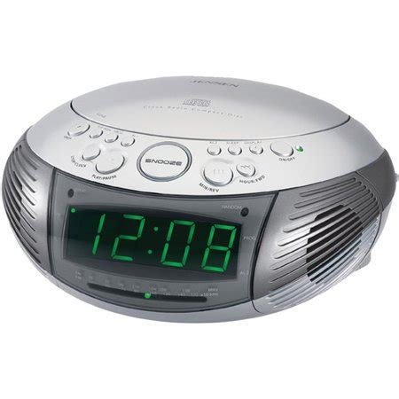 jcr 332 am fm dual alarm clock radio with top loading cd player walmart