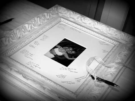picture frame guest book ideas guest book for wedding signing mat in a frame bridal
