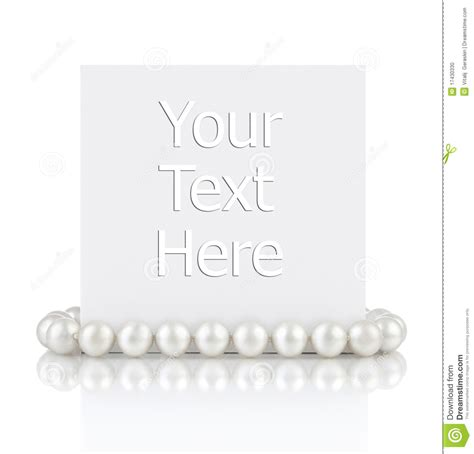 Empty Gift Cards - pearls with empty gift card stock photo image 17430330