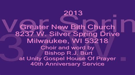 Unity Gospel House Of Prayer by Greater New Birth Church At Unity Gospel House Of Prayer