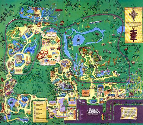 Ta Busch Gardens by Busch Gardens Map 1995 Best Idea Garden