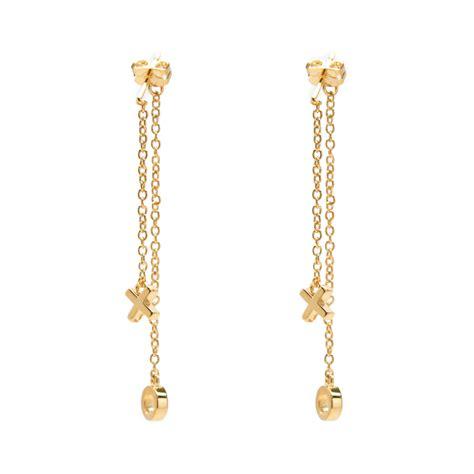 Dangle Earring xo chain dangle earrings