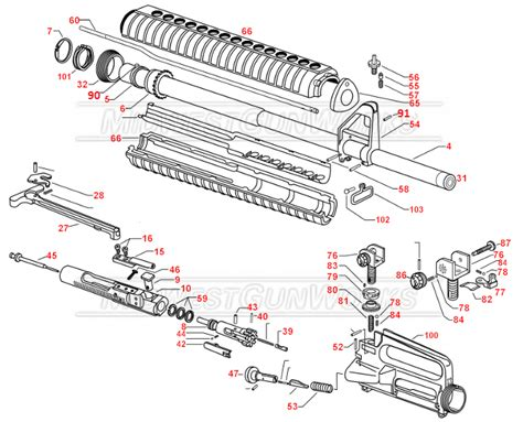 ar 15 breakdown diagram ar15 schematics ar 15 parts list numrich ar 15 schematic