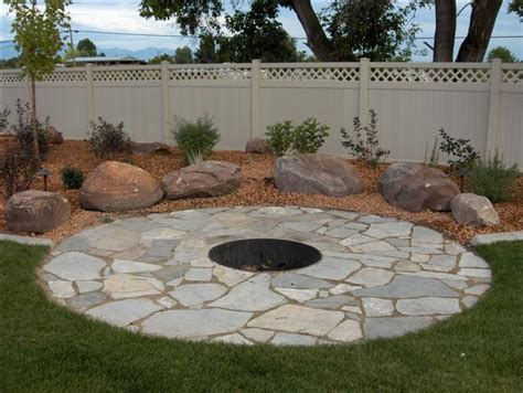 Flagstone Patio With Firepit Flagstone Patio Designs Flagstone Patio With Pit Patio Pavers Interior Designs Artflyz