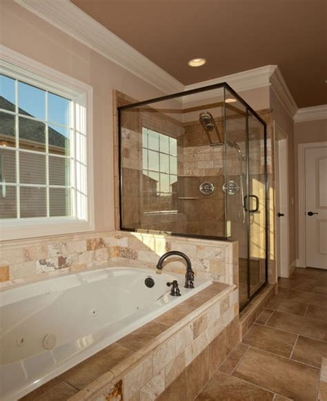 shower next to bath tub and shower next to each other bathroom
