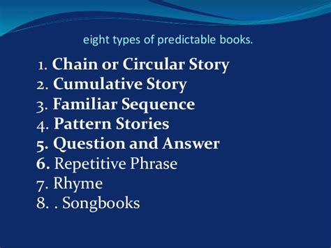 predictable books