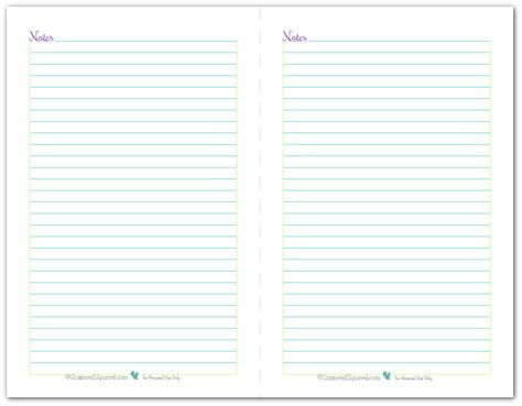printable planner notes pages note page and to do list printables reader request
