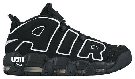 nike air more uptempo black white 2016 sneaker bar detroit