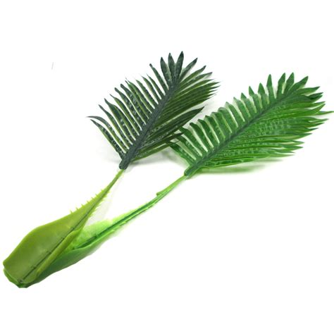 3pcs lot artificial fake plastic coconut tree leaves green