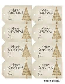 Urban daisies christmas gift tags