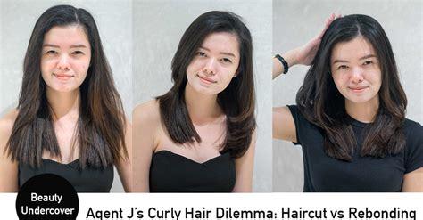 college hairstyles in rebonded hai haircut vs rebonding curly hair agent j tries both at
