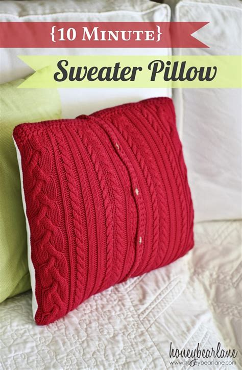 How To Make A Pillow From A Sweater by 10 Minute Sweater Pillows