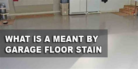 how to apply a garage floor stain